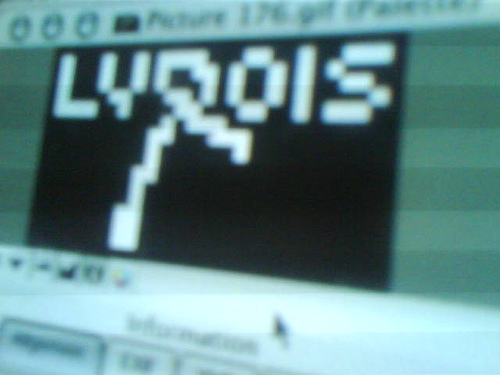 Lyrois Pixel Madness with the Dancer's Logo