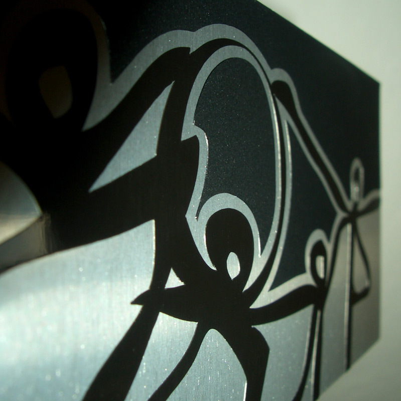 Lyrois: Close-up of Silhouettes Mural Limited Edition Aluminum Series