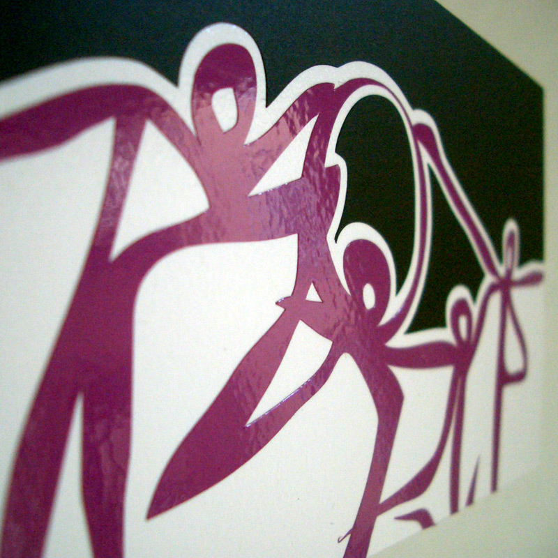 Lyrois: Close-up of Silhouettes Mural Limited Edition Vinyl Series
